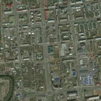Конкурс проектов Культурного центра им. В.Г. Короленко, Ижевск, 2019. Объект проектирования на спутниковом снимке (Bing Maps)
